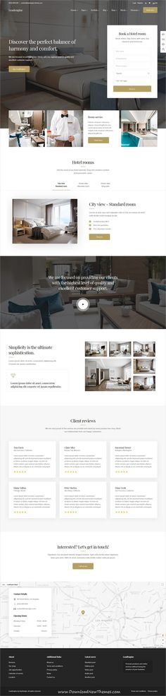 LeadEngine is a clean and modern design responsive multipurpose #WordPress #template for #hotel and #resorts website with 30+ niche homepage layouts and page builder to download & live preview click on image or Visit