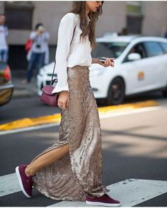 Dressed-down sequins.