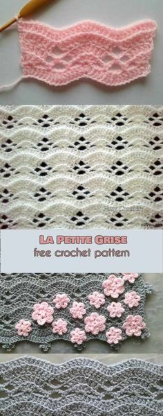 Petite Grise Free Crochet Pattern La Petite Grise Free Crochet Pattern This Eye Catching Stitch Will Be Perfect For Many Kinds Of Your Projects Like For Example Throws Scarfs Or Ponchos It Is Also The Perfect Choice La Petite Grise Free Crochet Pattern Crochet Motifs, Crochet Afghans, Crochet Stitches Patterns, Tunisian Crochet, Baby Blanket Crochet, Knitting Patterns, Crocheted Baby Blankets, Baby Afghans, Crochet Stitches For Blankets
