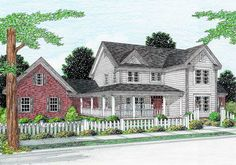 <ul><li>This pleasing country design offers a covered wrap-around porch in front. In back, two more covered porches flank a screened porch off the eating nook. </li><li>The first-floor master suite opens to one of the rear porches. A walk-in closet lies off the master bath. </li><li>Rising to 12', the living room flows into the nook and the kitchen. The kitchen is convenient to both the nook and the formal dining room.  </li><li>A study off the foyer completes the first floor…
