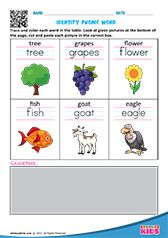 Identify phonic word English Activities For Kids, English Worksheets For Kindergarten, Learning English For Kids, Kids Math Worksheets, Preschool Phonics, Preschool Writing, Free Printable Alphabet Worksheets, Beginning Sounds Worksheets, Phonics Sounds