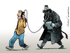 The NSA is listening in. Patrick Chappatte, The International Herald Tribune. Satirical Cartoons, Political Cartoons, Political Art, Political Issues, Nsa Surveillance, Enemy Of The State, Social Art, Global Citizen, We Are The World