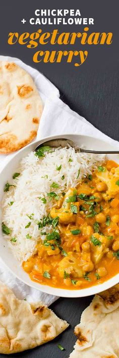 This Chickpea and Cauliflower Curry is packed with exotic flavor, but only takes about 20 minutes to come together from start to finish thanks to using curry paste.
