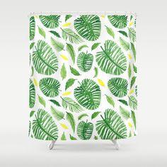 Palm leaf pattern Shower Curtain
