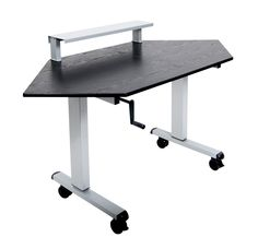 """When you look around and notice your office could use and update, check out Luxor 60"""" Corner .... http://www.getupstandupdeskco.com/products/standup-ccf60-b"""