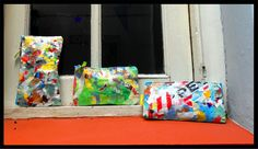 Eco bags done by recicling plastic and old things