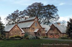 [ Rustic Log Cabin Home Plans Timber Frame Barn Style Modified House Plan Familyhomeplans ] - Best Free Home Design Idea & Inspiration Pole Barn House Plans, Pole Barn Homes, House Floor Plans, Pole Barns, Barn Plans, Garage Plans, Timber House, Timber Frame Homes, Timber Frames