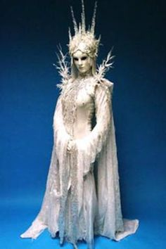 "This Ice Queen Living Statue will have everyone at you Winder Wonderland Wedding asking ""Is She Real?""  http://bigfootevents.co.uk/weddings/Themed-Weddings-Venue-Decor/Winter-Wonderland-Narnia-Themed-Event.aspx"