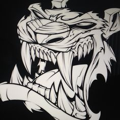 All inked up! #absorb81 #art #adobe #ink #drawing #tattoo #new #style #instaart #tiger #absorb81 #illustration #design