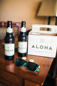 Aloha beer for a #Hawaii wedding   Photography: Christie Pham Photography - christie-photography.com   Modern + Vintage Oahu Wedding at Lanikuhonua   Read more - http://www.stylemepretty.com/destination-weddings/2014/01/28/modern-vintage-oahu-wedding-at-lanikuhonua/