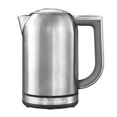 Ben jij ook zo'n theeleut en gebruik je voor elke thee smaak een andere temperatuur? Neem dan de KitchenAid 1,7 L Waterkoker. Deze is voorzien van een digitaal display waarbij je de temperatuur kunt instellen tussen de 50 °C en 100 °C .