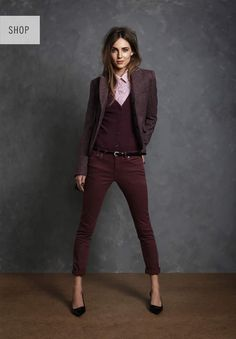 Jack Wills Autumn. Ok she needs to eat those legs are scary thin BUT this outfit is super cute. I'm a big fan of well-tailored blazers.