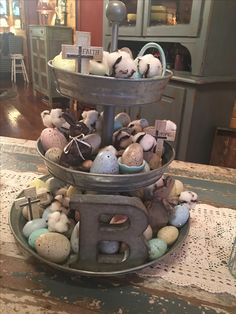 My galvanized tray ~ for Easter