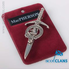 MacPherson Clan Crest Kilt Pin. Free worldwide shipping available.