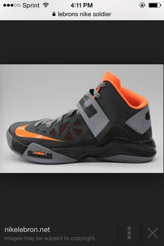 brand new 72d19 949d8 Lebrons Nike soldier orange grey and black