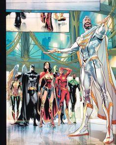 JLA - Superman's guests - Arte Dc Comics, Marvel Comics, Superman Art, Univers Dc, Dc Comics Characters, Comics Universe, Detective Comics, American Comics, Comic Books Art