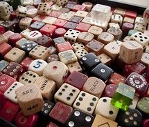 Boxes of old dice can be found everywhere. This collection is very nice because there is a variety of good  vintage dice.  Often you can find ivory in the mix and that is a jackpot! What you can do with these have no limit!!