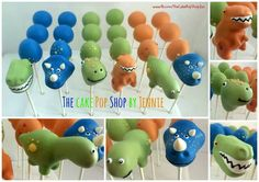 Dinosaur and Dinosaur egg cake pops Dinasour Cake, Dinasour Birthday, Leo Birthday, 1st Birthday Cakes, Dinosaur Birthday Party, Birthday Treats, Dinosaur Cake Pops, Dino Cake, Egg Cake