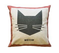 Meow Toss Pillow – Meowingtons: CIMTM? Hmmm, probably. But, I think I'd have to add some eyes to it! Kinda creeeepy w/out 'em! :D