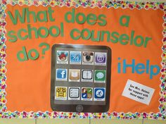 iHelp bulletin board for school counselors--beginning of the school year