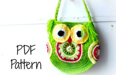 link up your projects to the link party! owl purse pattern by the hobbyhopper