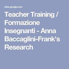 Teacher Training / Formazione Insegnanti - Anna Baccaglini-Frank's Research