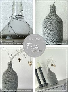 1000 images about glazen potten en flessen on pinterest painted jars glass jars and candle jars - Oude huisdecoratie ...