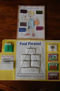 """Food pyramid """"lapbook"""""""