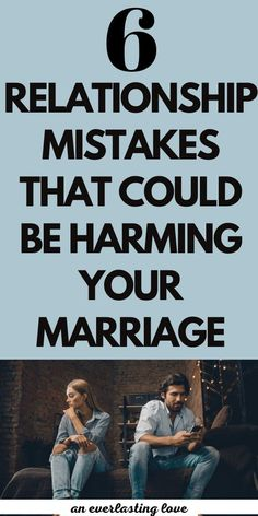 Are you making these marriage mistakes? While there are no perfect marriages, there are some negative habits that will lead you down the path to divorce.
