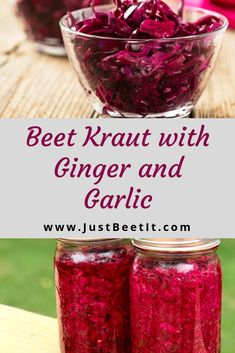 Recipes Vegetables Beet Kraut with Ginger and Garlic Fermentation Recipes, Canning Recipes, Pickled Beets Recipe, Canned Beets Recipe, Vegetable Recipes, Plant Based Recipes, Canning Beets, Recipes, Food Recipes