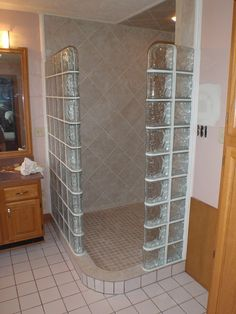 glass block for showers | Glass-Block Shower Enclosure | Flickr - Photo Sharing!