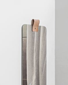 RIBBON mirror is based on the Scandinavian aesthetic focusing on only 3 materials; glass, leather and brass. Fine Arts School, Frameless Mirror, Screws And Bolts, Beveled Glass, Mirrors, Scandinavian, Ribbon, Brass, Bedroom