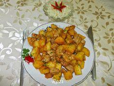 Rozi erdélyi,székely konyhája: Brassói aprópecsenye Sweet Potato, Cauliflower, Curry, Potatoes, Vegetables, Ethnic Recipes, Food, Cauliflowers, Curries