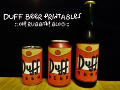 Simpsons Duff Beer Printable :: Bart :: Homer Simpson Party Ideas :: oh! rubbish! blog