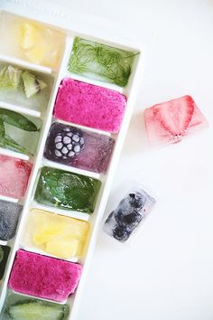 detox ice cubes.