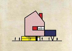 Famose opere d'arte trasformati in edifici di Federico Babina