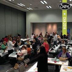 The Designer Roundtable is getting ready to start. Tickets to this class are hot! It is one of 9 sold out show events. #lovesizzix #sizzixcha #chashow