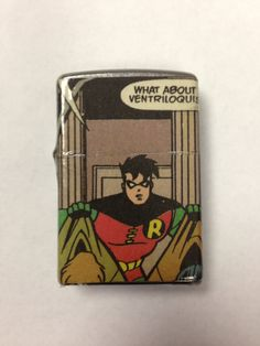 Robin Comic Book Zippo Lighter by nerdyhussy on Etsy, $30.00