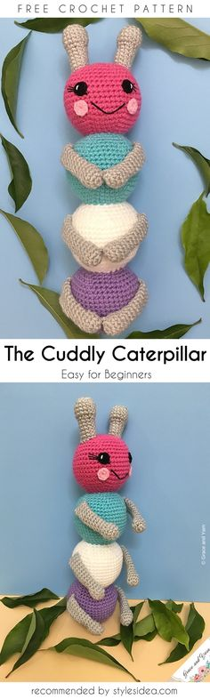 The Cuddly Ami Caterpillar Free Crochet Patterns #freecrochetPatterns #amigurumitoy #freepattern