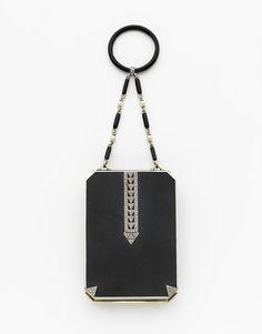 Janesich - Platinum, Diamond and Black Enamel Minaudière Trieste, Art Deco Vanity, Chaumet, Art Deco Period, Purse Styles, Black Enamel, Vanities, Georgian, Evening Bags
