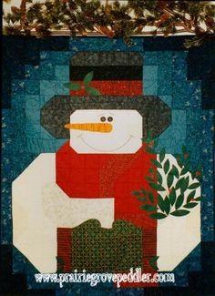 Prairie Grove Peddler Winter Snowman Quilt