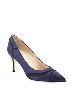 Ciabol+Scalloped+Suede+Slingback+Pump,+Gray+by+Manolo+Blahnik+at+Neiman+Marcus.(both  colors) | CURRENT Looks I like | Pinterest | Colors, Pump and Gray