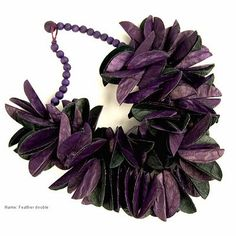 Paper purple black necklace by the talented Ana Hagopian