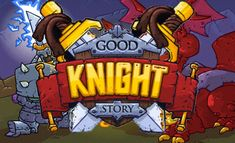 Good Knight Story is an RPG game with a twist. Like all RPG games, you get to battle monsters and collect items on your adventure.
