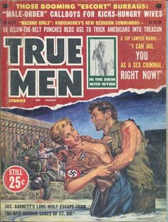 Barnett's Lone-Wolf Escape From The Nazi. Pulp Fiction Art, Pulp Art, Pulp Magazine, Magazine Covers, Art Jokes, Adventure Magazine, Cartoon Books, True Detective, Its A Mans World