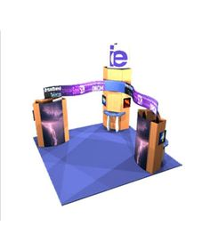 Modular Trade Show Display Island System - MO-IS-7