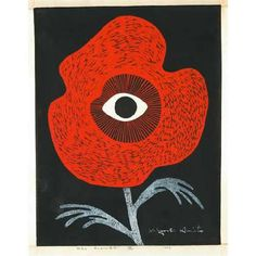 View Red flower by Kiyoshi Saito on artnet. Browse upcoming and past auction lots by Kiyoshi Saito. Japan Illustration, Illustration Blume, Graphic Design Illustration, Graphic Art, Japanese Prints, Japanese Art, Japanese Painting, Japanese Style, Flower Graphic Design