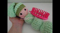 How to loom knit a teddy - buddy - toy in English! Knitting Loom Dolls, Loom Knitting Projects, Loom Knitting Patterns, Circular Knitting Needles, Knitted Dolls, Stitch Patterns, Loom Knitting For Beginners, Knitting Basics, Round Loom