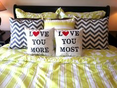 For KB: PAIR of Valentine's Day Love You More & Most by AndersAttic, $20.00