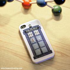 TARDIS iPhone Case Cross-Stitch Pattern   The Zen of Making